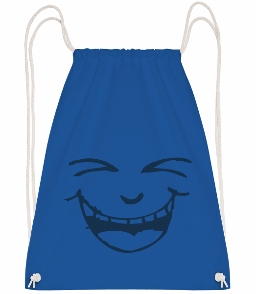 Laughing Face Symbol Blue - Drawstring Backpack - Royal blue - Vorn