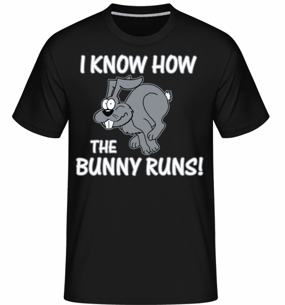 How The Bunny Runs - Shirtinator Männer T-Shirt - Schwarz - Vorn