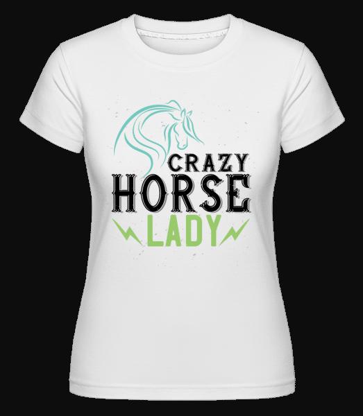 Crazy Horse Lady -  Shirtinator tričko pro dámy - Bílá - Napřed