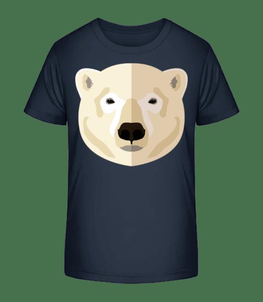 Polar Bear Comic Shadow - Kid's Premium Bio T-Shirt - Navy - Vorn