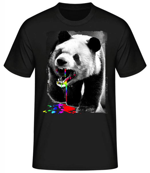 Panda Eat Unicorn - Men's Basic T-Shirt - Black - Front