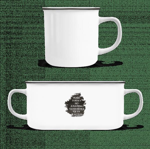 Make Yesterday Jealous - Enamel-cup - White - Vorn