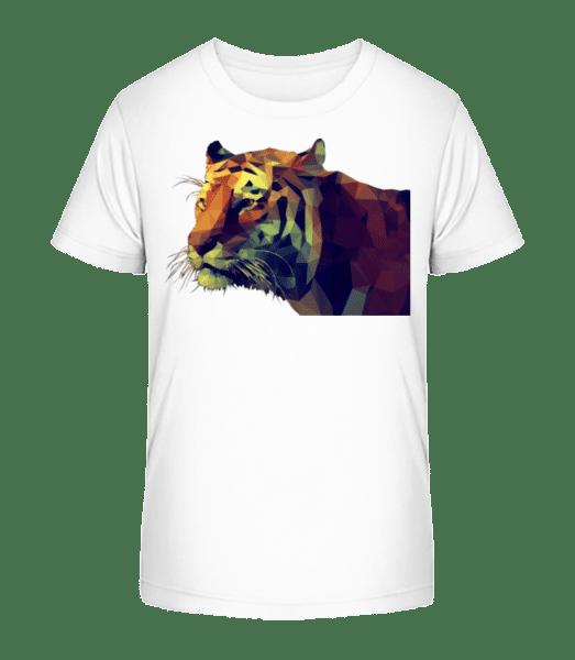 Polygone Tiger - Kid's Premium Bio T-Shirt - White - Vorn