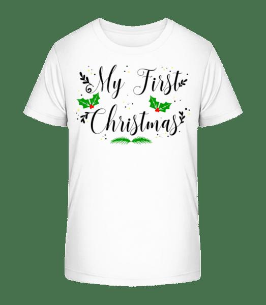 My First Christmas - Kid's Premium Bio T-Shirt - White - Front