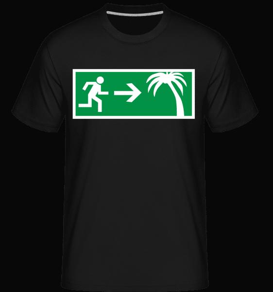 Emergency Exit Holidays -  Shirtinator Men's T-Shirt - Black - Vorn