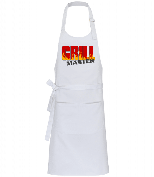 Grill Master - Professional Apron - White - Front