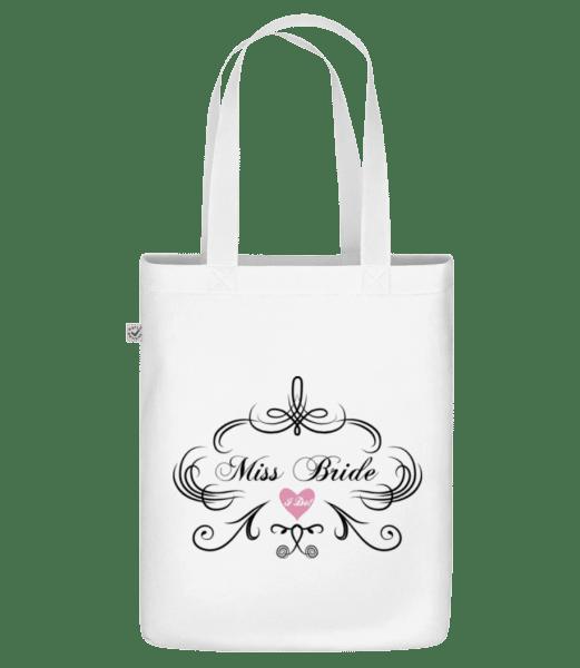 "Miss Bride - Organic ""Earth Positive"" tote bag - White - Vorn"