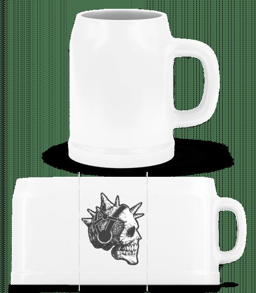 Punk Skull - Beer Mug - White - Vorn