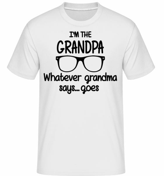 I'm The Grandpa -  T-Shirt Shirtinator homme - Blanc - Vorn