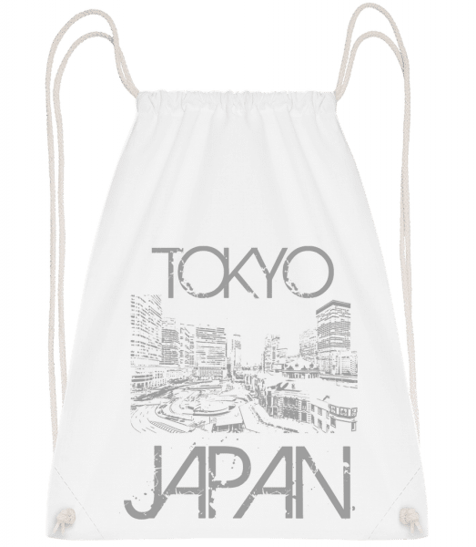 Tokyo Japan - Drawstring Backpack - White - Vorn