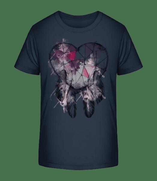 Dream Catcher Heart - Kid's Premium Bio T-Shirt - Navy - Vorn