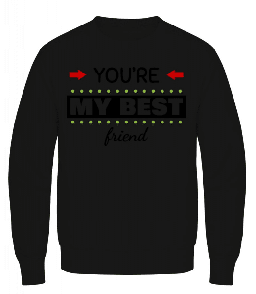 You're My Best Friend - Men's Sweatshirt - Black - Front