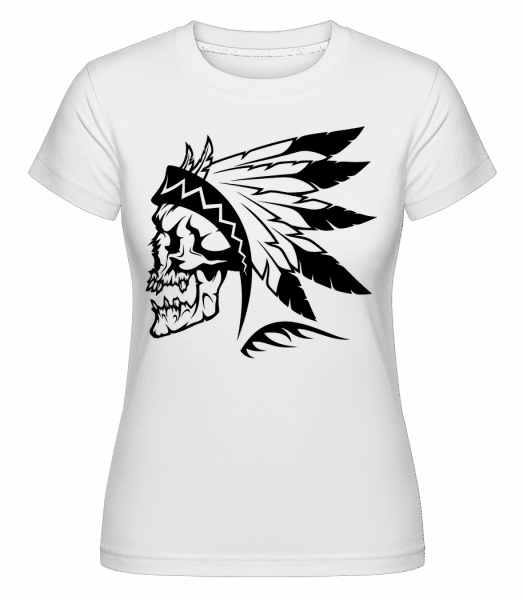 Wild West Skull -  Shirtinator Women's T-Shirt - White - Vorn