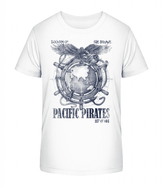 Pacific Pirates - Kid's Premium Bio T-Shirt - White - Front