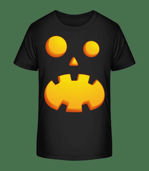 Pumpkin Face Astonished - Kid's Premium Bio T-Shirt - Black - Vorn