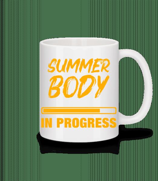 Summer Body in Progress - Mug - White - Vorn