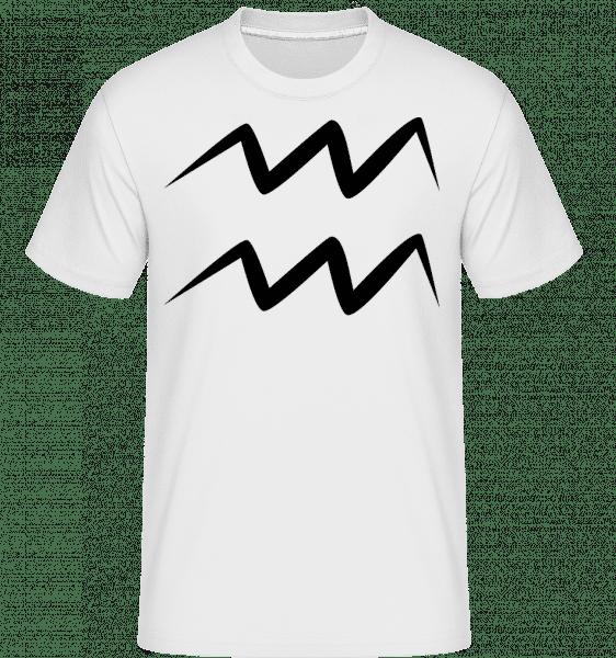 Aquarius znamení -  Shirtinator tričko pro pány - Bílá - Napřed