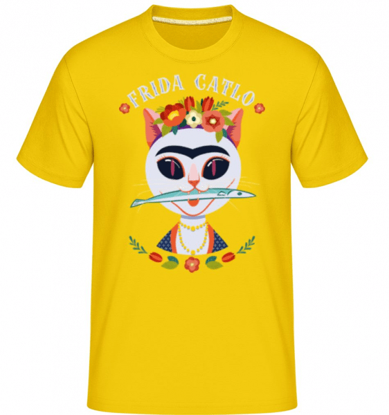 Frida Catlo -  Shirtinator Men's T-Shirt - Golden yellow - Front