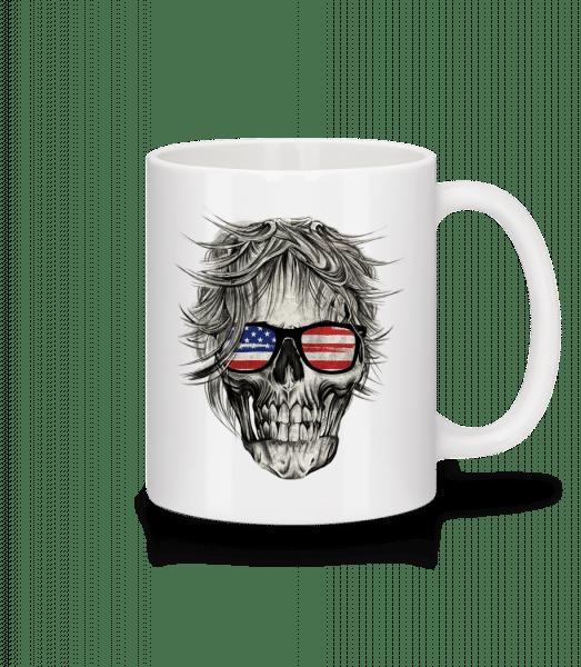 Totenschädel Amerika - Tasse - Weiß - Vorn