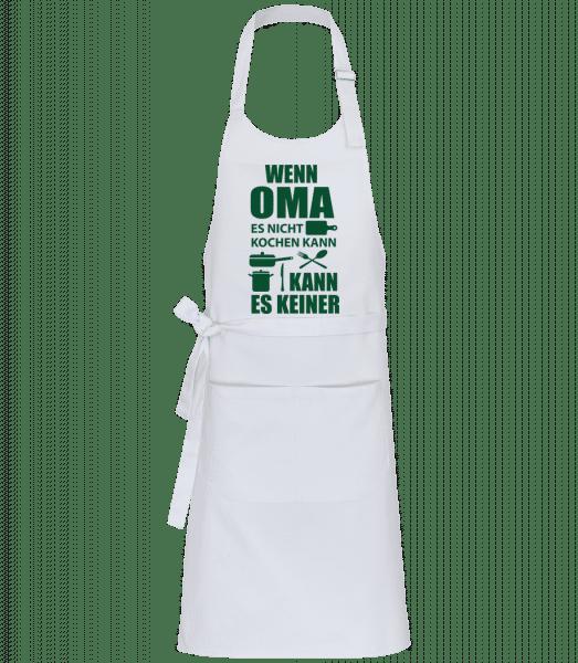 Oma Kann Alles Kochen - Profi Kochschürze - Weiß - Vorn