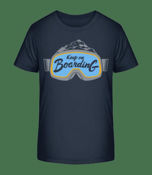 Keep On Boarding - Kinder Premium Bio T-Shirt - Marine - Vorn
