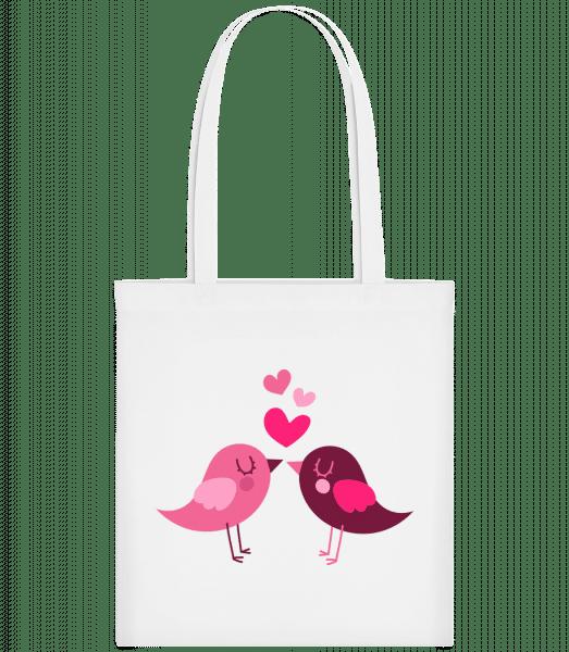 Birds Love - Taška Carrier - Biela - Predné