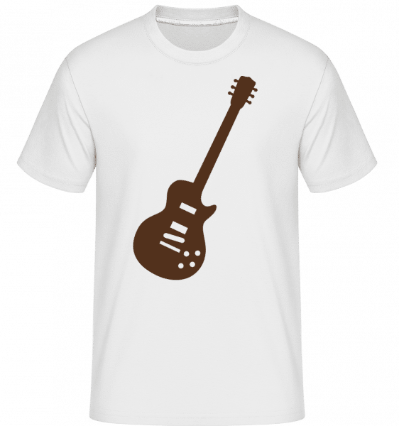 Electric Guitar -  Shirtinator Men's T-Shirt - White - Front