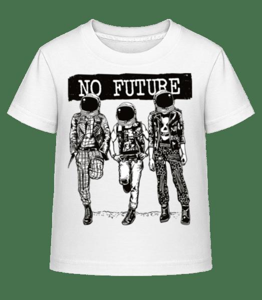 No Future - Kid's Shirtinator T-Shirt - White - Vorn