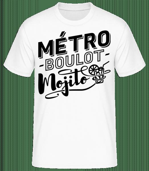 Métro Mojito - T-shirt standard Homme - Blanc - Devant