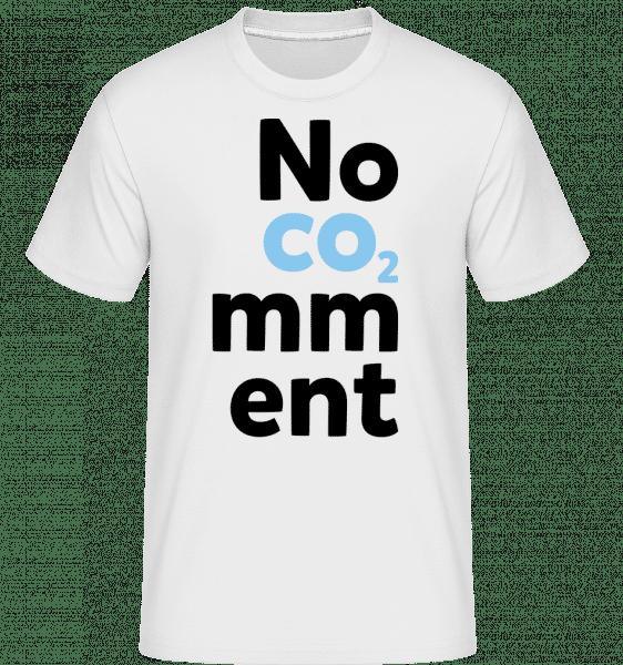 No Comment - Shirtinator Männer T-Shirt - Weiß - Vorn