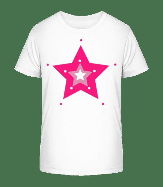Pink Star - Kid's Premium Bio T-Shirt - White - Vorn