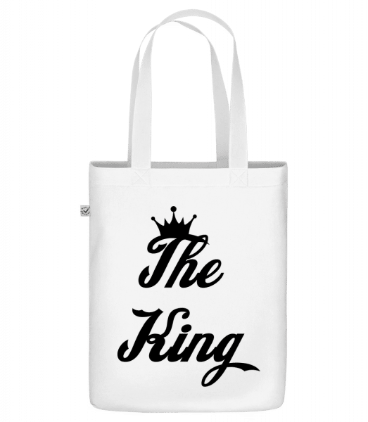 "The King - Organic ""Earth Positive"" tote bag - White - Vorn"