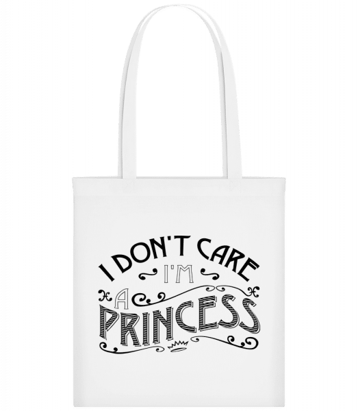 I Don't Care I'm A Princess - Sac tote - Blanc - Devant