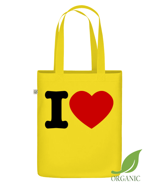 "I Love Hearth - Organic ""Earth Positive"" tote bag - Yellow - Vorn"