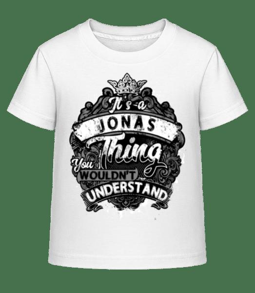 It's A Jonas Thing - Kinder Shirtinator T-Shirt - Weiß - Vorn