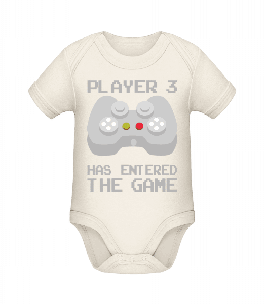 Player 3 Entered The Game - Organic Baby Body - Cream - Vorn