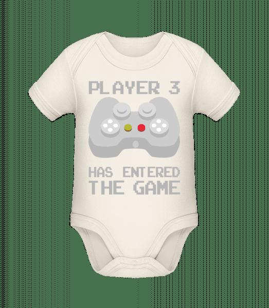 Player 3 Entered The Game - Baby Bio Strampler - Creme - Vorn