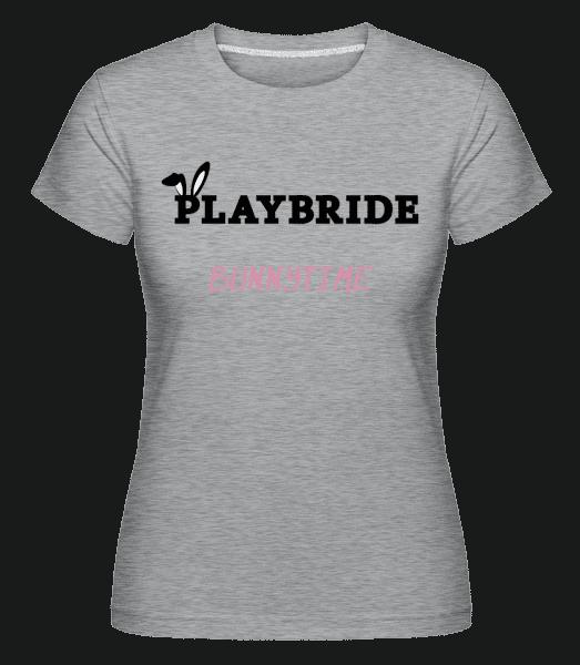 Playbride Bunnytime - Shirtinator Frauen T-Shirt - Grau meliert - Vorn