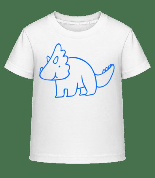 Dinosaur Kids Blue - Kinder Shirtinator T-Shirt - Weiß - Vorn