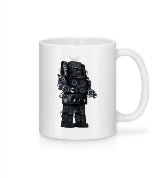 Ghetto Blaster Robot - Mug - White - Vorn