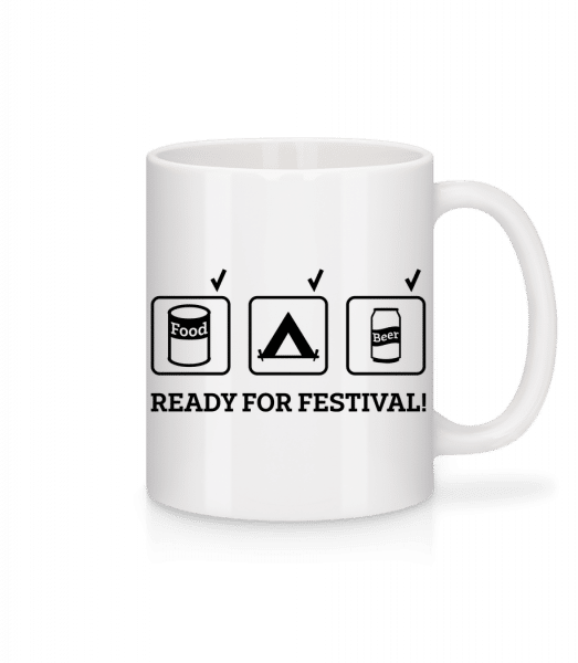 Ready For Festival - Mug - White - Front