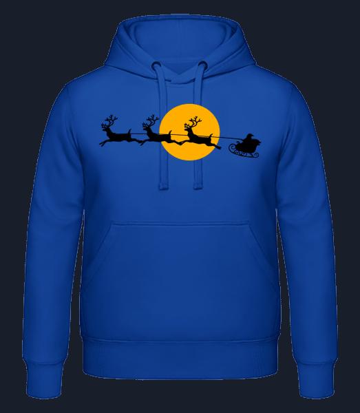 Christmas Moon - Men's hoodie - Royal blue - Vorn
