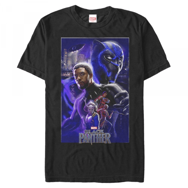 Panther Light Group Shot - Marvel Black Panther - Men's T-Shirt - Black - Front