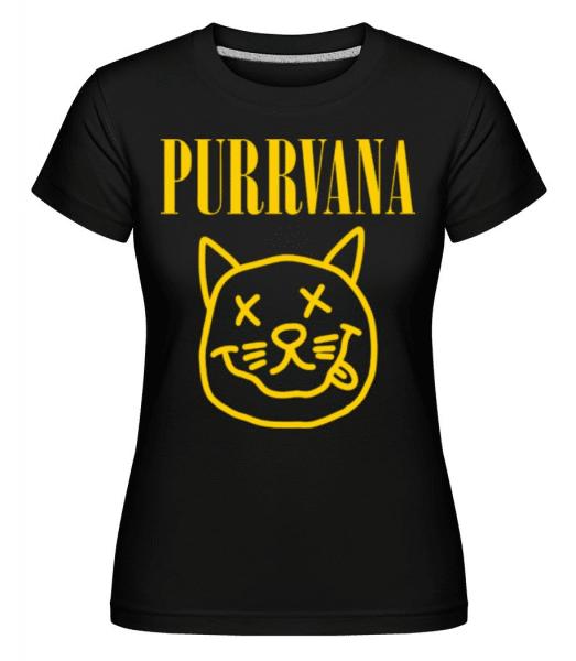 Purrvana -  Shirtinator Women's T-Shirt - Black - Front