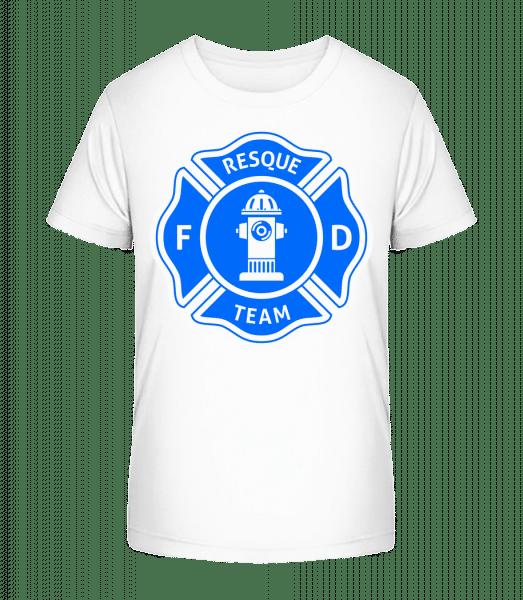Resque Team - Kinder Premium Bio T-Shirt - Weiß - Vorn