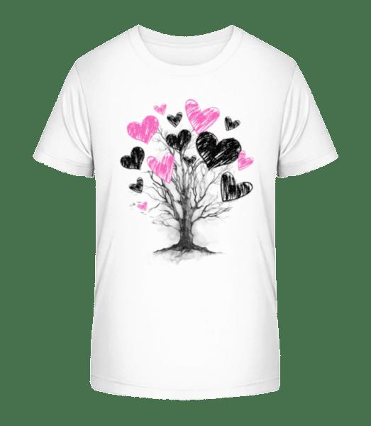 Heart Tree - Kid's Premium Bio T-Shirt - White - Vorn