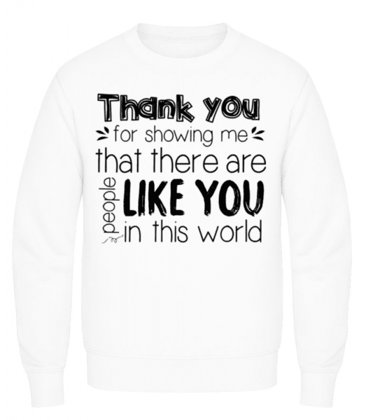 Thank You For Being - Men's Sweatshirt - White - Front