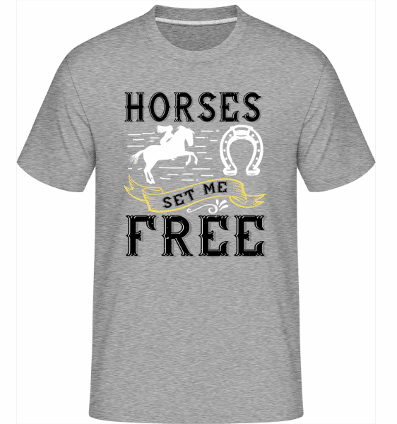 Horses Set Me Free -  Shirtinator Men's T-Shirt - Heather grey - Vorn