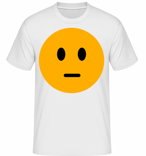 Expressionloss Smiley -  Shirtinator Men's T-Shirt - White - Vorn