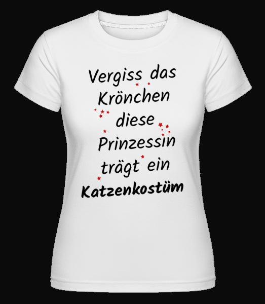 Prinzessin Trägt Katzenkostüm - Shirtinator Frauen T-Shirt - Weiß - Vorn